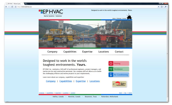 the new www.ephvac.ca